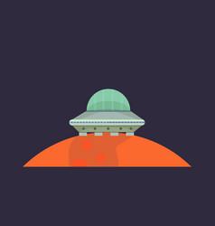ufo spaceship in cartoon style vector image vector image