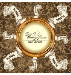 vintage template Background vector image vector image