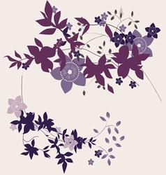 violet flowers vector image