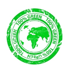 Grunge green stamp vector