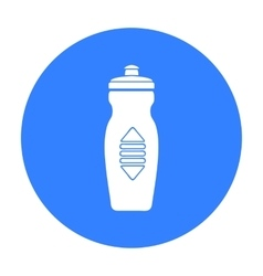Water bottle icon in black style isolated on white vector