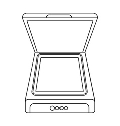 Scanner icon in outline style isolated on white vector image