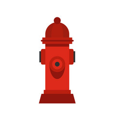 red fire hydrant icon flat style vector image