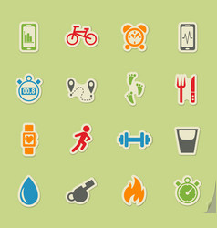 Monitoring apps icon set vector