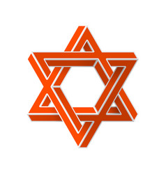 impossible star of david vector image