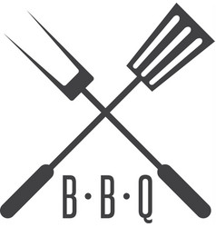 Bbq tools simple icon design template vector