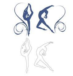 gymnastics girl vector image