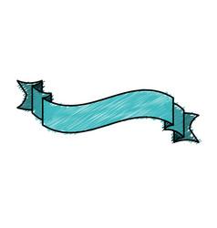 color pencil ribbon decorative tape design vector image
