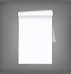 Blank magazine with rolled pages a4 vector