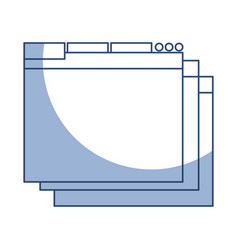 shadow web window vector image