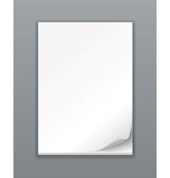 Empty Paper Stack vector image