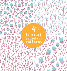 Floral patterns set 1 vector