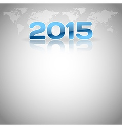 2015 football mirror blue vector image vector image