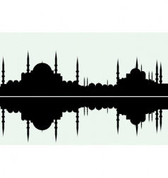 Arabesque cityscape vector