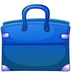 A blue handbag vector