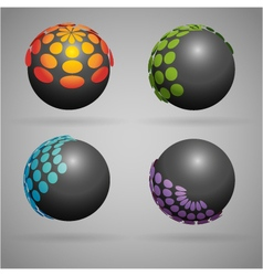 Sphere dots vector