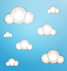 Low poly clouds vector