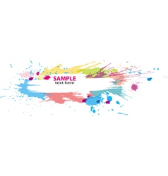 Colorful grunge banner vector