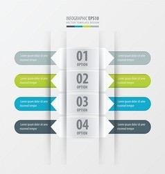 Rounded banner set Green blue gray color vector image