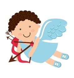 Angel cupid little icon vector