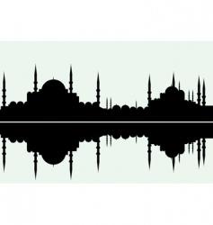 arabesque cityscape vector image vector image