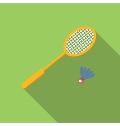 Badminton flat icon vector