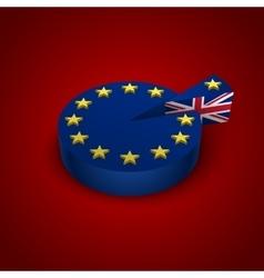 Brexit referendum great britain vector