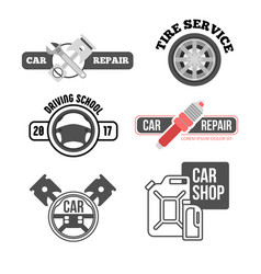 car service logo for business vector image