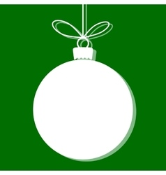 Christmas bauble white tag vector
