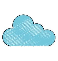 cloud computing server icon vector image