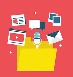 Concept of content marketing vector