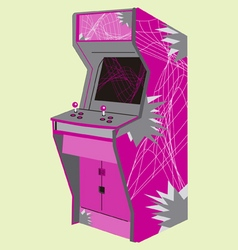 eighties video game machine vector image vector image
