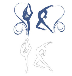 gymnastics girl vector image