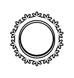 label flower decoration outline vector image vector image