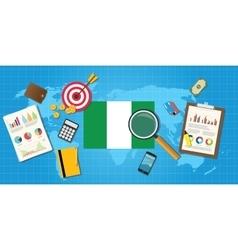 Nigeria africa economy economic condition country vector