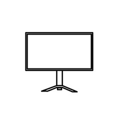 pc monitor icon vector image vector image