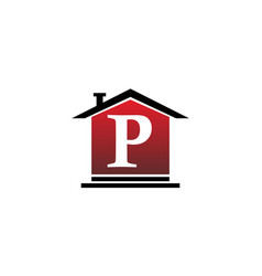 real estate initial p vector image vector image