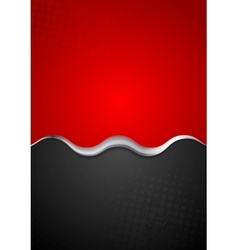 Red black contrast background with metal wave vector image