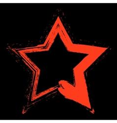 Red star grunge vector