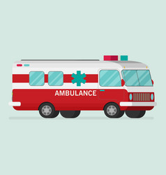 retro ambulance car vector image vector image