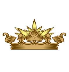 royal attribute golden crown vector image