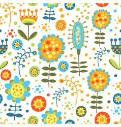 seamless bright floral pattern on a white backgrou vector image vector image