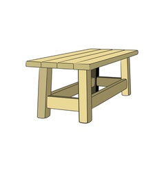 Table-3D-380x400 vector image
