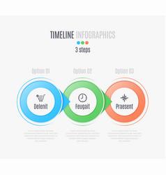 three steps infographic timeline presentation vector image vector image