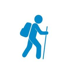 Tourist icon vector