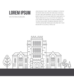 University Concept with text vector image