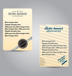 Retro bannner vector