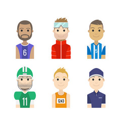 Simple people avatar man sports character vector