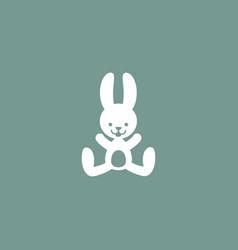 rabbit icon simple vector image