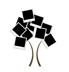 Polaroid tree vector